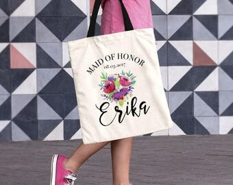 Maid of Honor Tote Bag, Maid of Honor Gift, Maid of Honor Tote