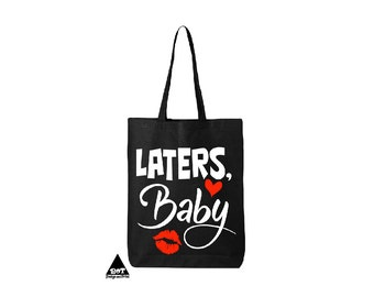 Laters Baby Fifty Shades Of Grey Cotton Canvas Tote