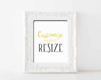 CUSTOM RESIZE of Any Printable Wall Art Custom Resizing Print Options Printable Wall Art Resize Options 4x6 5x7 11x14 16x20 All Sizes Resize