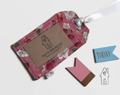 Girl's Luggage Tag, Luggage Label, Pink Luggage Tag, Floral Luggage Tag, Women's Travel Accessory, Gift for Travellers, Old Flour House