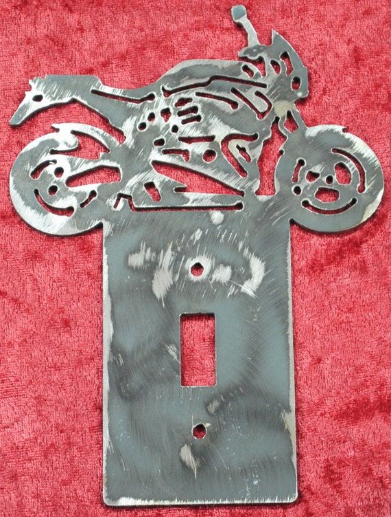 X1 Lighting Single Light Switch Cover Plate, Light Switch Cover, X1 Lighting, Street Racing Motor Bike, Decorative Light Switch, Motorcycle