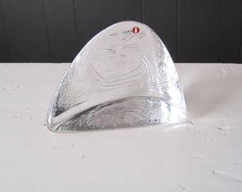 Iittala ONNELLISET Glass Paperweight Designed by Valto Kokko, Modern Scandinavian Glass Design, Nordic Art Glass, Vintage Textured Glass