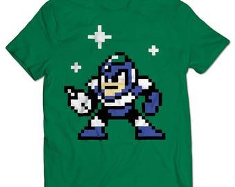 Mega Man 2 Flash Man T-shirt