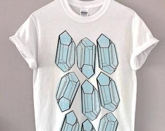 Blue Gemstones Vintage Graphic Tee T-Shirt