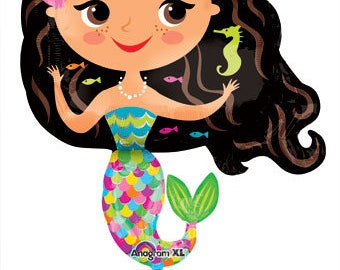 Pretty Mermaid Balloon, Mermaid Party Kit