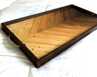 Wood Serving Tray | Geometric Tray | Wood Breakfast Tray | Modern Wood Tray | Wood Wall Art | Wooden Serving Tray | Wood Tray