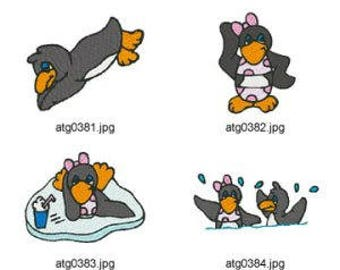 Beach Penguins   ( 11 Machine Embroidery Designs from ATW ) XYZ17E