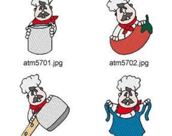 Chef-Peekers  ( 7 Machine Embroidery Designs from ATW ) XYZ17E