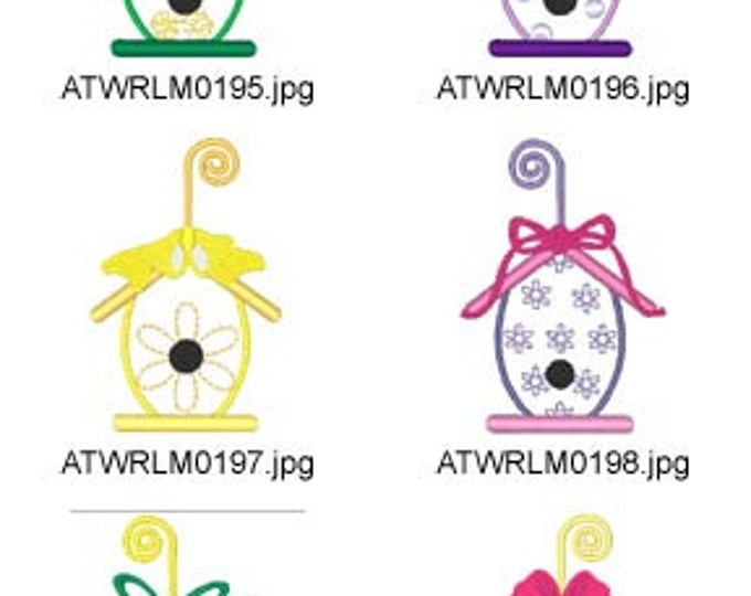 Easter-Egg-House-Applique ( 10 Machine Embroidery Designs from ATW ) XYZ17C