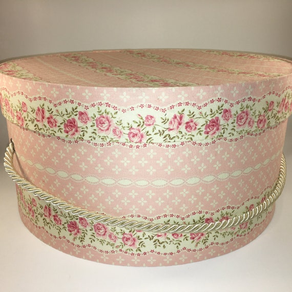 Round Decorative Boxes: Beautiful Extra Large Hat Box Ready To Ship Decorative Box