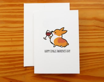 """Single Awareness Day Greeting Card 