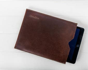 Leather iPad Sleeve Handmade Leather Tablet Case