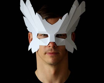 ICARUS Mask - Make an easy winged mask from card with this PDF download