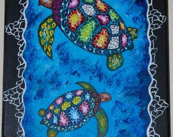Turtle Totem Animal Painting