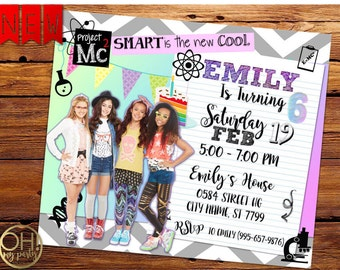 Project Mc2 Invitation, Project Mc2 birthday invitation,Project Mc2 party, Project Mc2 birthday party, Project Mc2 birthday, Project Mc2