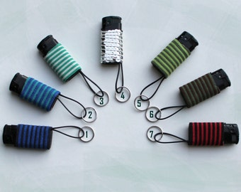Lighter Keyring Keychain-keychain lighter-suede leather optics-various colors-handmade
