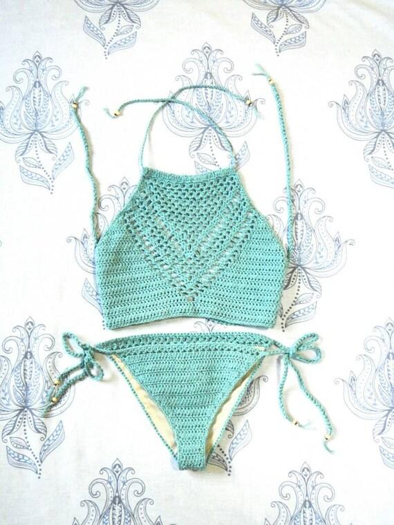 Amour High Neck Bikini Set