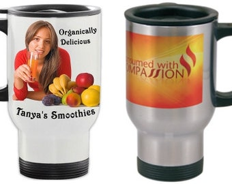 Stainless Steal Travel Mugs with your Business Logo