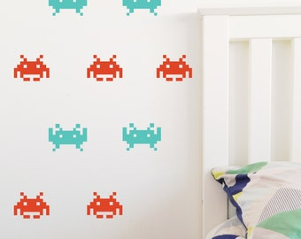 SPACE INVADER Wall Sticker, Removable Decal, Made In Australia