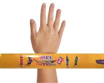 QTY 12, Slap Bracelets, Birthdays, ID Bracelets, Theme Park Bracelet, Kids Identification