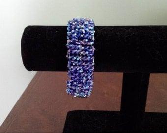 Blue fringe bracelet