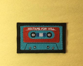 Cassette iron on patch