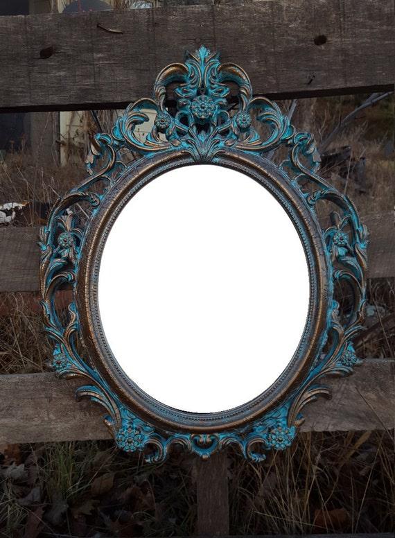 Items similar to baroque mirror hollywood regency mirror for Baroque bathroom mirror