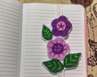 Felt bookmark - Great Gift for teachers, book lover gift, gift for readers