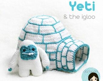 Yeti & the Igloo Amigurumi Crochet Pattern