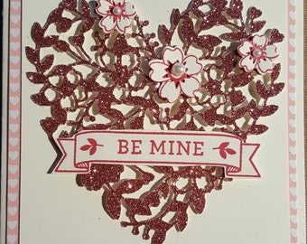 Bloomin Love  - Be Mine - Valentine - Greeting Cards - Handmade - Stampin' Up - Flowers - Heart