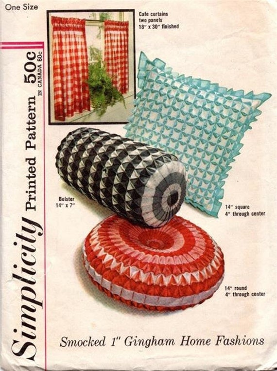 Vintage 1960 S Simplicity Home Decor Pattern 4679 Tufted Pillows From Bellawoovintage On Etsy Studio