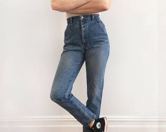 80s Super High Waist Tapered Jeans