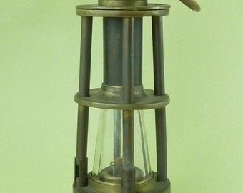 Ashworth's Patent Hepplewhite-Gray Miners Gas Testing Lamp Davis Derby Coal Mining