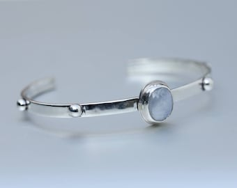 Cuff bracelet - Handmade sterling silver // moonstone bracelet // jewelry cuff // gemstone // cuffs bracelets // nicolev