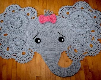 Elephant Rug | Etsy