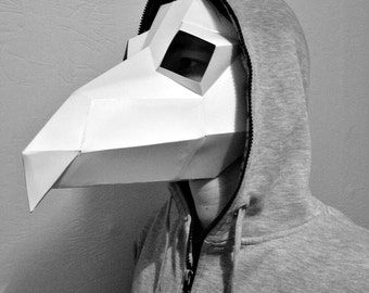 Plague doctor mask pattern printable