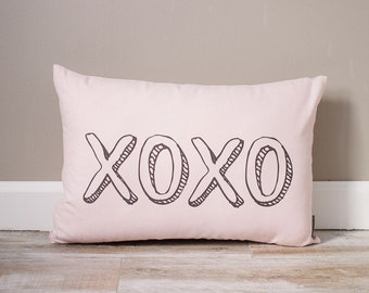 XOXO Pillow   Monogrammed Valentine's Gift   Gifts For Her   Valentine's Day Gift   Rustic Decor   Holiday Decor   Monogrammed Pillow