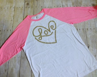 Love Shirt, Valentines Day Top, Heart Shirt