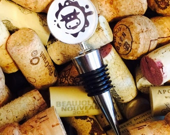 Cow Wine Bottle Stopper- Change of Command Gift- Military Gift- Military Wife Gift