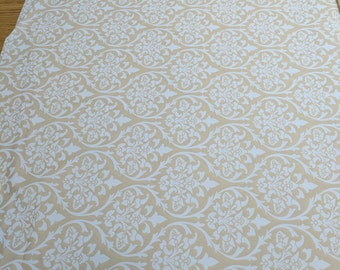 White on Cream Cotton Fabric from Moda