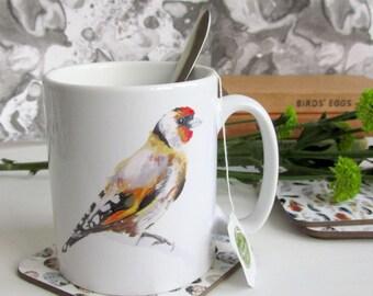 British Birds - Goldfinch Ceramic Mug