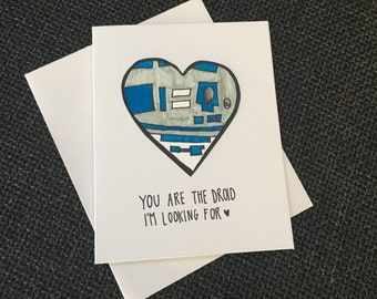 Star Wars Droid Heart Card