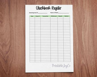 paper check registers