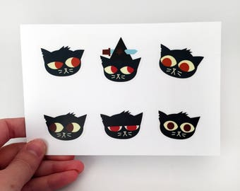 """Night in the Woods Sticker Sheets 4x6"""""""