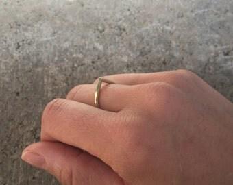 GOLD BRASS RING w Drop Shape · Tear Drop Ring · Brass Jewelry · Messingschmuck · Messingring ·Tropfenring