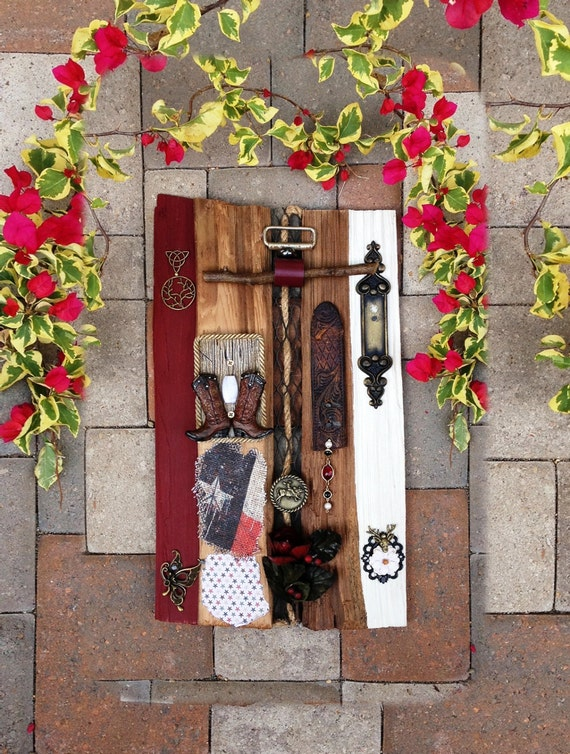 Rustic vintage wall decor : Wall art vintage decor rustic wood upcycled