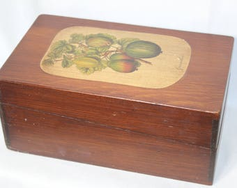Vintage Groseillier (Currant) Recipe/Storage Box