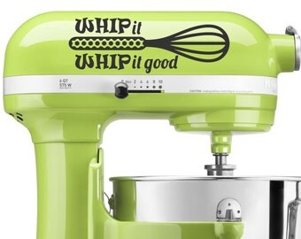 Whip It Whip It Good mixer decal - vinyl decal, home decor, vinyl sticker, kitchen aid decal, mixer vinyl decal