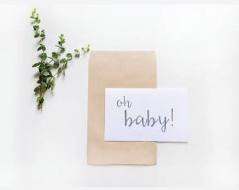 Oh Baby! / New Baby Card / Congratulations on your Pregnancy / Celebration