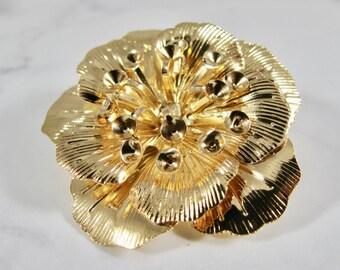 Gold Flower Hair Clip | Bridal Hair Clip, Wedding Hair Clip, Gold Hair Clip, Bridal Accessories, Wedding Accessories, Nature Hair Clip